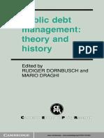 Rudiger Dornbusch, Mario Draghi-Public Debt Management_ Theory and History-Cambridge University Press (1990)