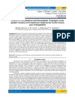 Analysis of Geostatistical and Deterministic Techniques in the Spatial Variation of Groundwater Depth in the North-western Part of Bangladesh