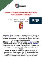 4. Capital de Trabajo - Administración