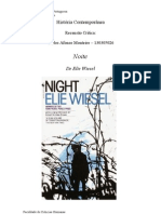 Recensao Da Obra 'Noite' de Elie Wiesel
