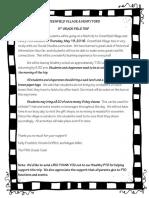 Greenfield Village Parent Letter