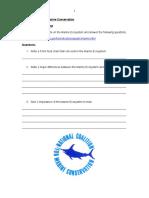 Conservation Worksheet
