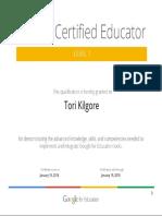 google educator certificate