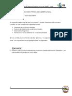 Guía Del Guia Del Segundo Examen de Álgebra Lineal