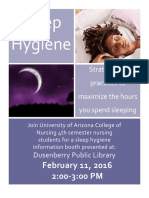 sleep hygiene flyer