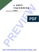Access2007VBA Programming InstrutorsEdition