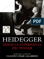 Heidegger Martin - Desde La Experiencia Del Pensar.pdf