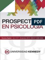 Revista Prospectivas en Psicología - Volumen 2
