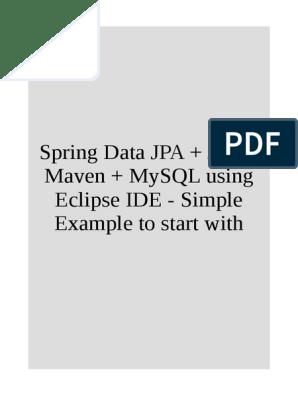 Spring Data JPA + JSF + Maven + MySQL using Eclipse IDE