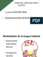 Usos y Funciones Del Lenguaje Oral y Escrito2