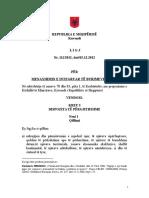 Ligji Per Menaxhimin e Integruar Te Burimeve Ujore , 15.12.2012