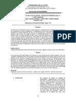Informe de laboratorio de mecánica de fluidos Capilaridad