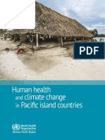 WHO Human Health and Climate Change in Pacific Island Countries - April 2016