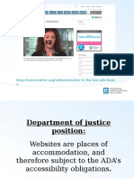 Slides from Window to the Law