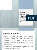 Buyer's Rights and Liabilities