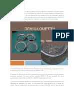 La Granulometría Se Define Como La Distribución de Los Diferentes Tamaños de Las Partículas de Un Suelo