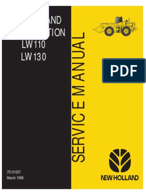 New Holland LW110 LW130 Loader Service Manual | Transmission ... on