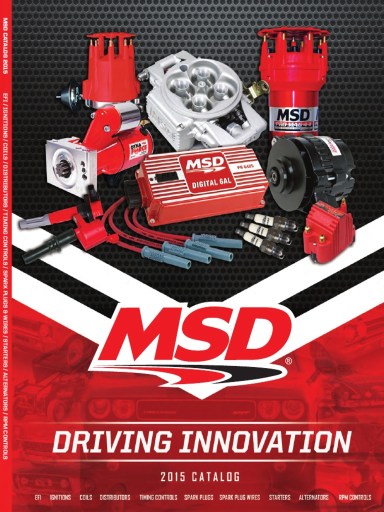 catalogo msd ignition system distributor