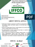 Iffco aonla Presentation