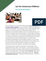 eBook Como Passar Em Concursos Públicos