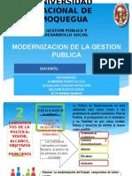 Diapositivas de Derecho Modernizacion