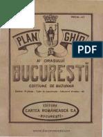 1922 - Plan Si Ghid Al Orasului Bucuresti
