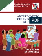 Propuesta de la CGTP para  Ley general de Trabajo (en discusión)