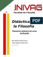 Planeación Didáctica Filosofía I