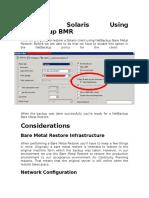 Restore Solaris Using NetBackup BMR