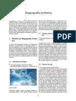 Biogeografia evolutiva