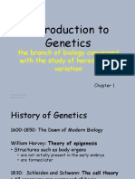 Chapter 1 Introduction to the Study of Genetics (1)