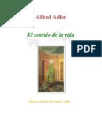 Adler, Alfred El Sentido de La Vida