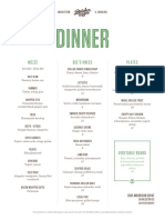 Butcher & Bee Dinner Menu