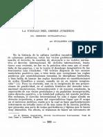 La Unidad Del Orden Juridico 1946