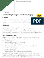 Informatica Velocity Error Map