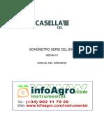Instrucciones Sonometro Digital Casella Cel 620 Clase 2