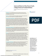 JAMA Pediatrics - Concussion Symptoms and Return to Play Time in Youth, High School, and College American Football Athletes
