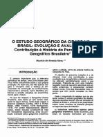 O Estudo Geografico Da Cidade No Brasil