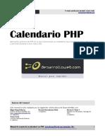 Calendario Php Texto Completo