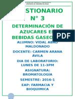 CUESTIONARIO GASEOSAS