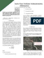 Análisis de Suelos Mediante Sedimentométria