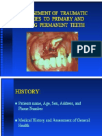 Management of Traumatic Injuries to Primary Young Permanent Teeth Pedo