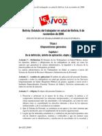 BO-EST-28909 Estatuto Del Trabajador de Salud