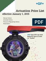 Valve GF Valve Price List 2015
