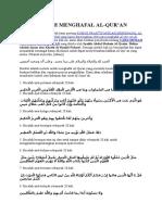Cara Mudah Menghafal Al Quran