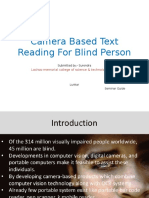 Camera Based Text Reading for Blind Person