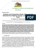 Analysis and Comparative Study of Essential Oil