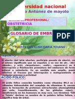 Glosario de Embriologia