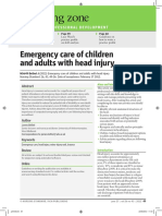 Emergency Care of Children and Adults With Head Injury