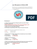 Latihan Soal Dasar Manajemen BSI